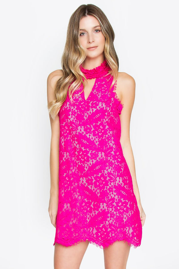 Seraphine Lace Halter Dress
