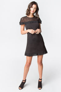 Jerald Pleated Ruffle Dress