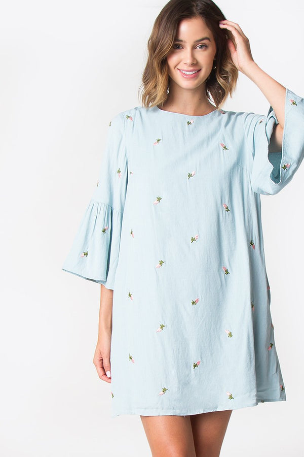 Lafayette Bell Sleeve Dress
