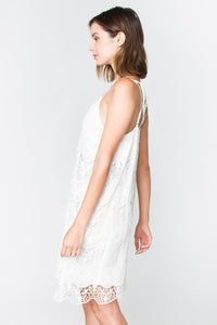 Kiara Chiffon Lace Slip Dress