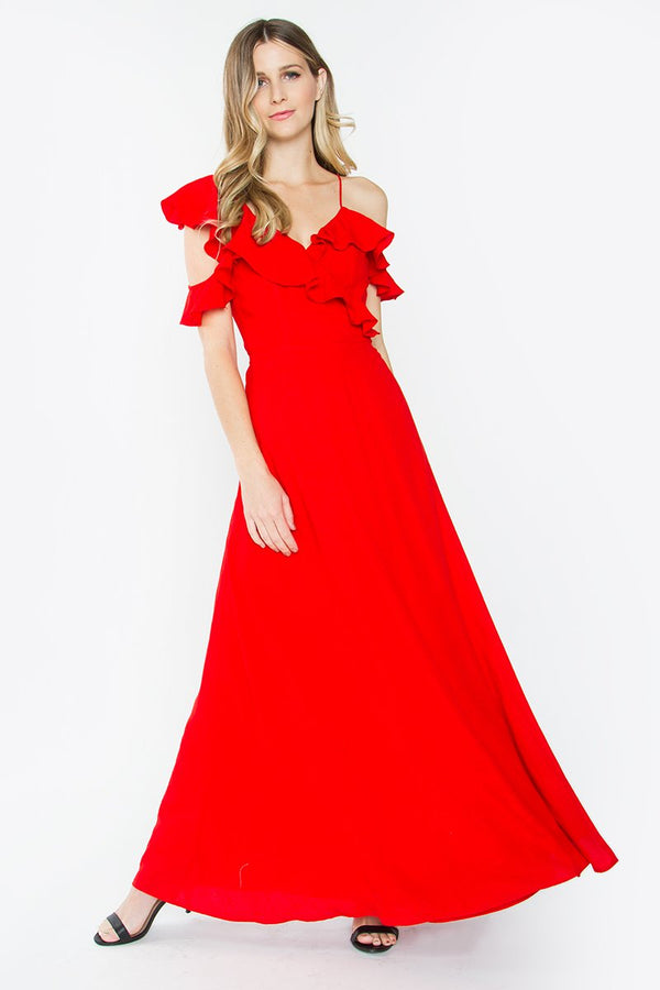 Courtney Maxi Red Dress