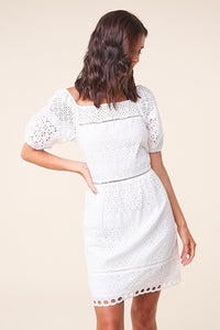 Elora Off The Shoulder Eyelet Dress