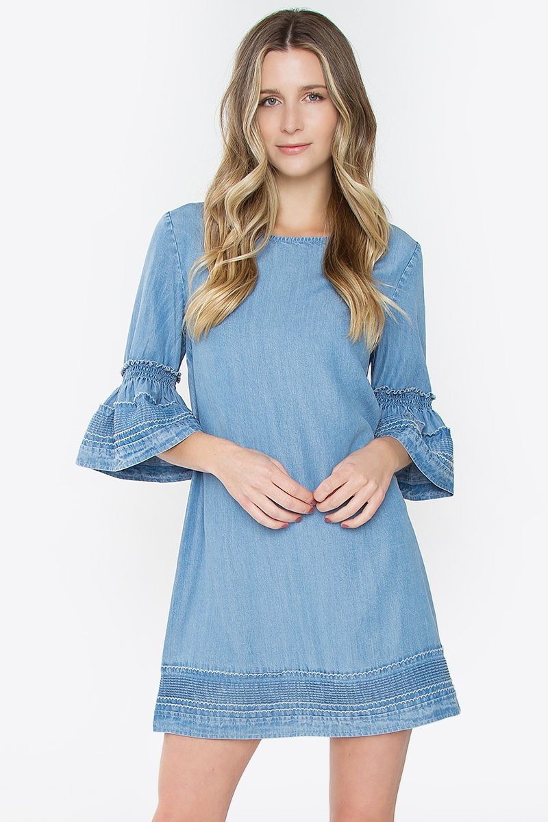 Kayla Denim Shift Dress