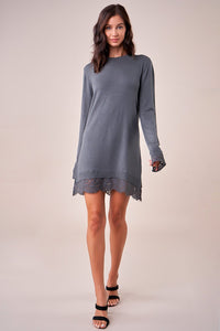 Imani Lace Insert Sweater Dress