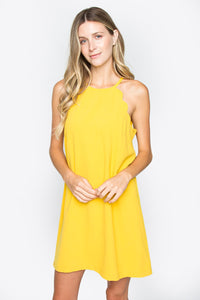 Sunflower Scallop Detail Dress