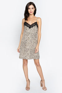 Gianetta Leopard Print Slip Dress