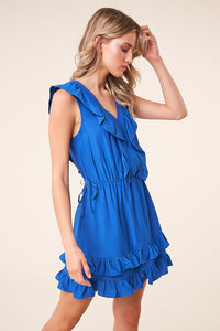 Nightshade Ruffle Mini Dress