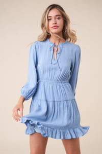 Lilly Ann Long Sleeve Peasant Dress