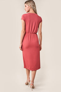Angelyn Front Twist Midi Dress