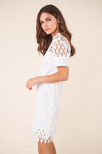 Wistful Crochet Star Cut Out Lace Dress