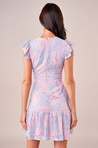 Bottega Mixed Lace Dress