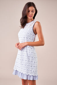 Compass Mix Media Lace Shift Dress