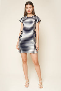 True Blue Striped Shift Dress