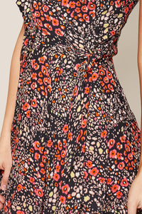 La Peer Floral Wrap Cami Dress