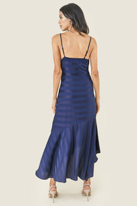 Rosado Striped Satin Slip Dress