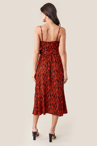 On The Prowl Cowl Neck Midi Slip Dress