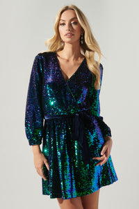 Aventurine Sequin Mini Dress