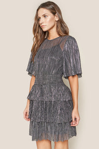 Galactic Gal Metallic Mini Dress