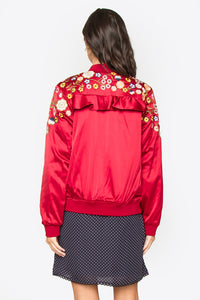Mikie Embroidered Bomber Jacket