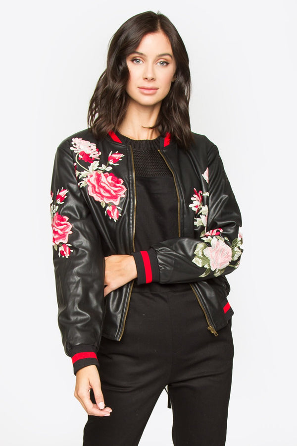 Aiden Embroidered Bomber Jacket
