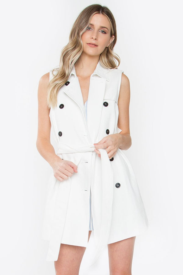 French Trench Vest