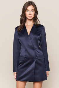 Keep It Cool Oversized Blazer Dress