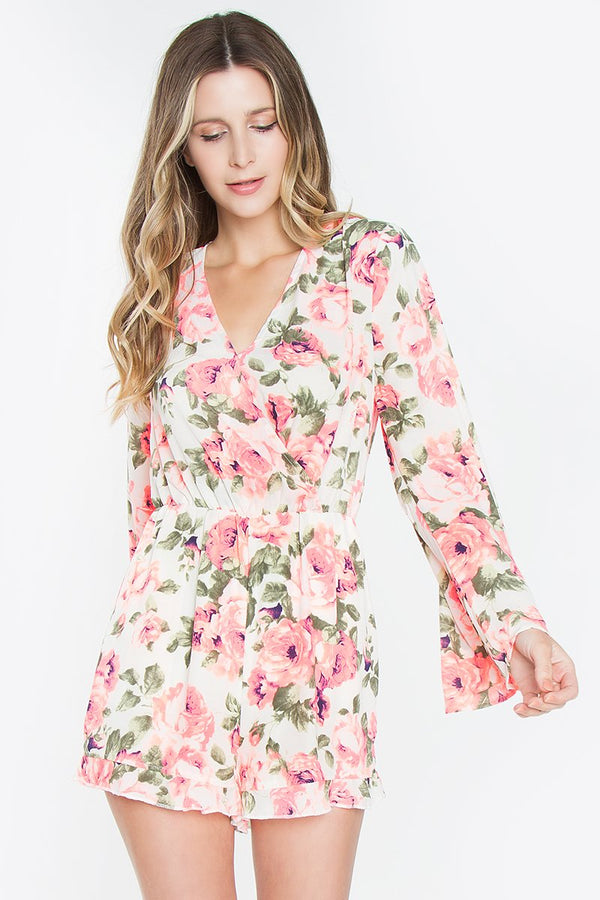 Lily Rose Surplice Romper