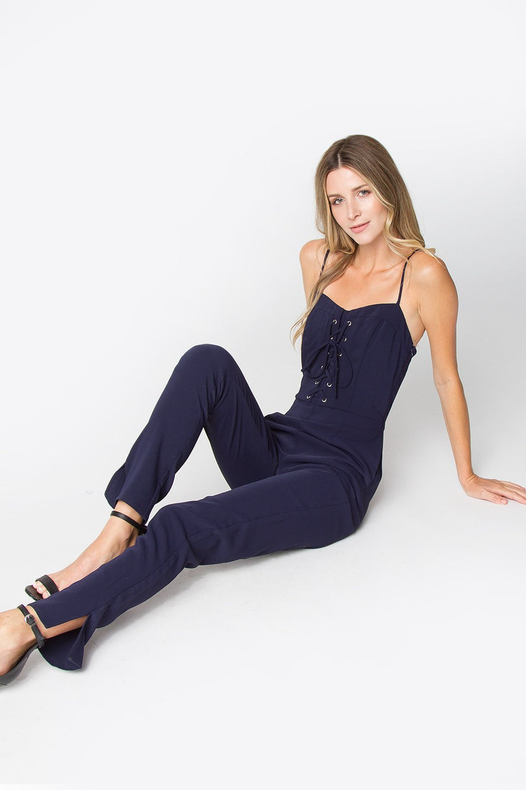 Sirens Lace-Up Jumpsuit