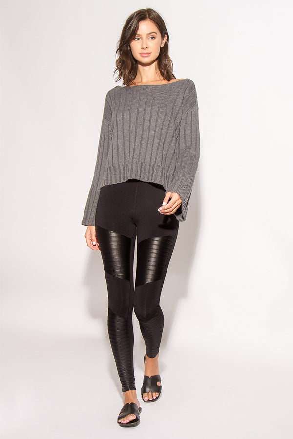 Stella Paneled Moto Leggings