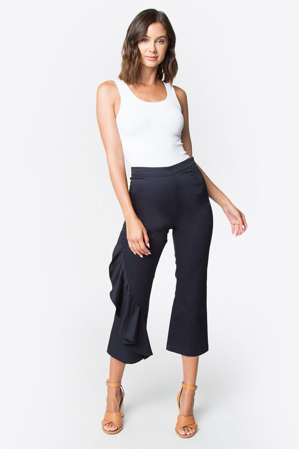 Cumbia Flared Cropped Pants