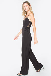 Tally Lace Up Jumpsuit