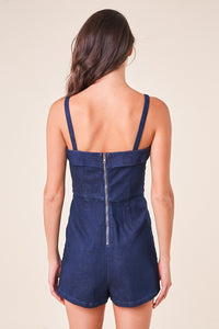 Dance With Me Denim Romper