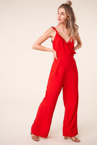 Sure To Be Seen Ruffle Jumpsuit