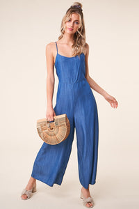 Catamaran Denim Wide Leg Jumpsuit