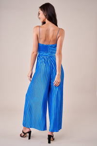 Cherish You Pleated Wrap Jumpsuit