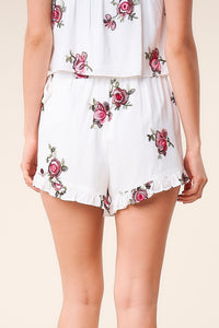 Carnation Crush Floral Wrap Skort