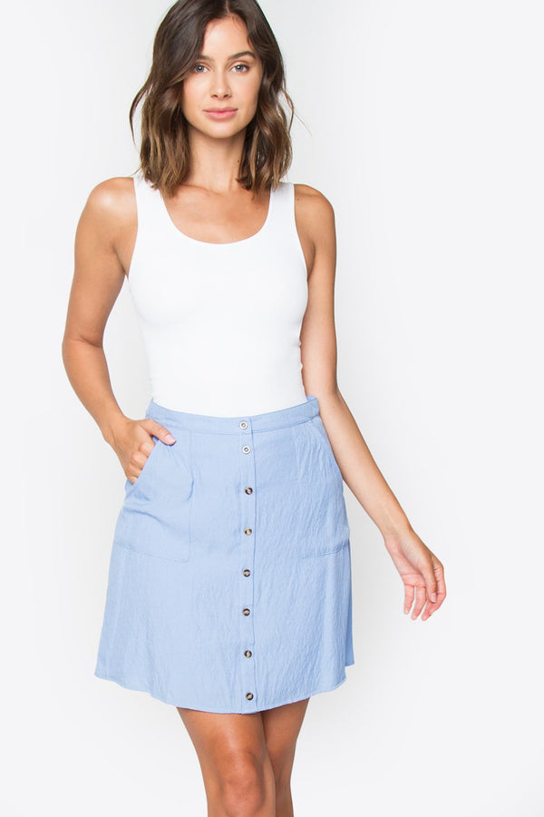 Finley Button Down Skirt