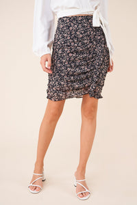 Sweet Symphony Floral High Low Skirt