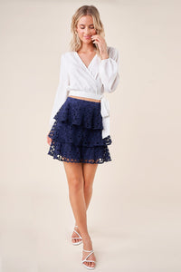 Sweet Summer Crochet Lace Mini Skirt