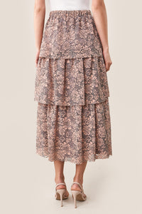 Rhiannon Tiered Lace Midi Skirt