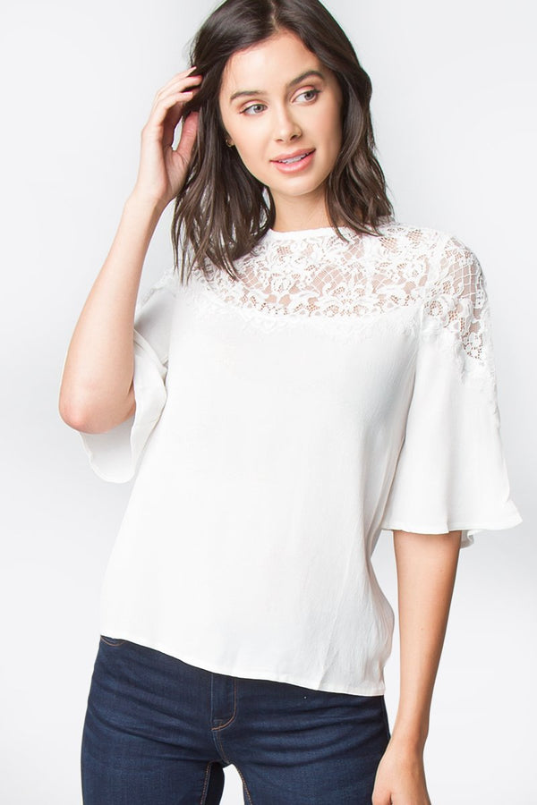 Evelyn Lace Yoke Top
