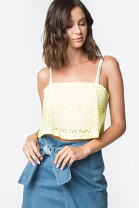 Luna Eyelet Crop Top