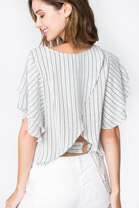 Amira Ruffle Crop Top