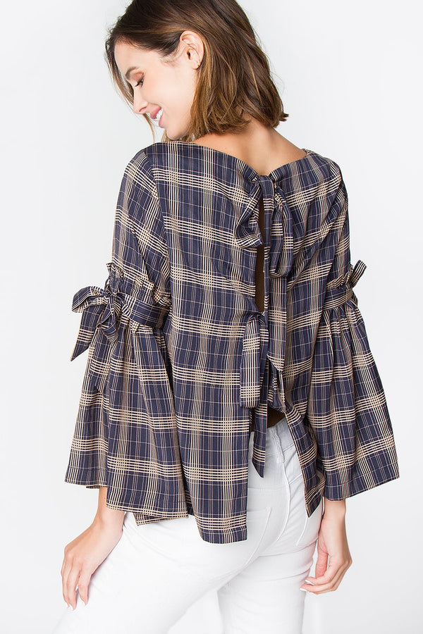 Frankie Plaid Top