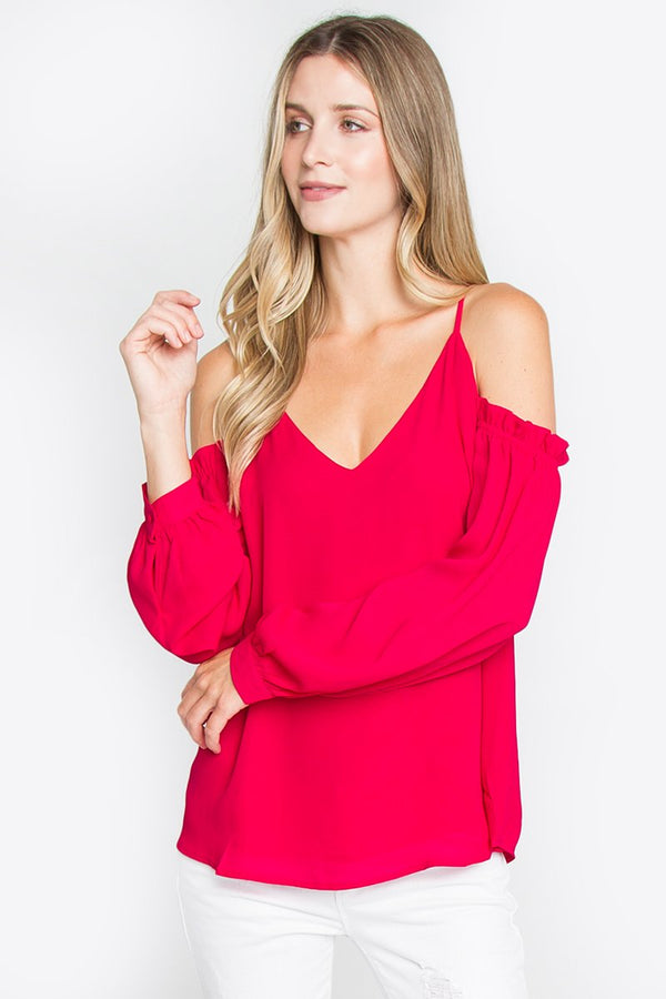Vicentina Cold Shoulder Top