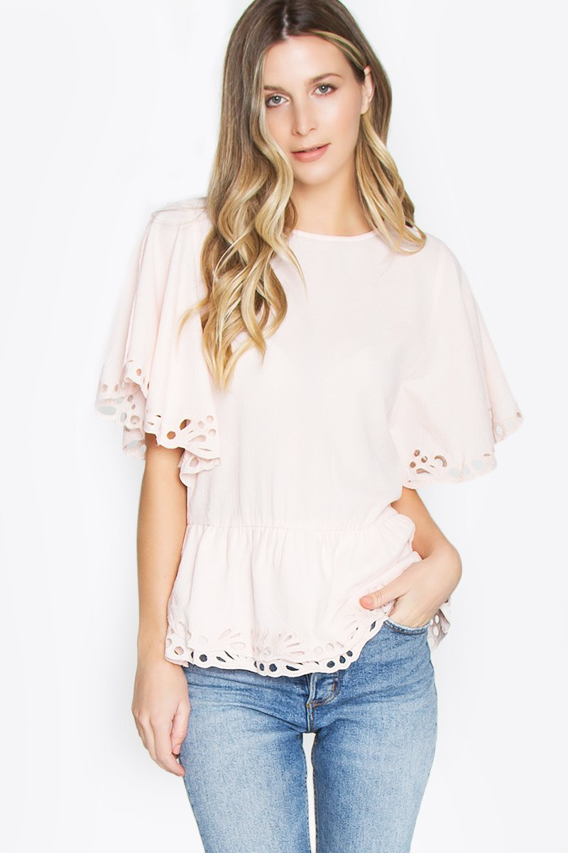 Sable Embroidered Top