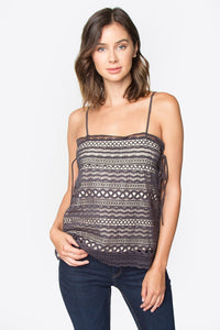 Rosetta Crochet Lace Top