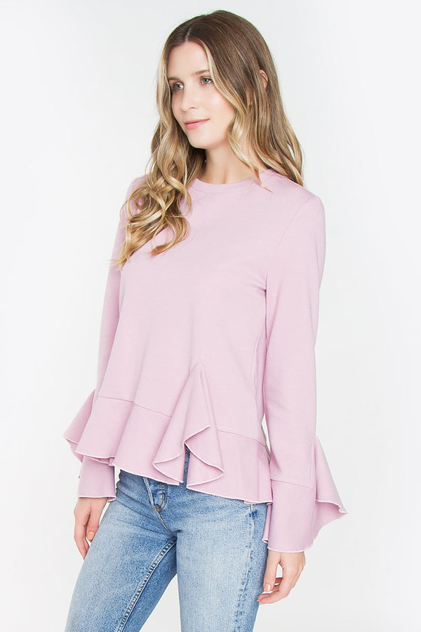 Monroe Ruffle Knit Top