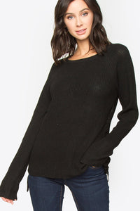 Malese Lace-Up Sweater