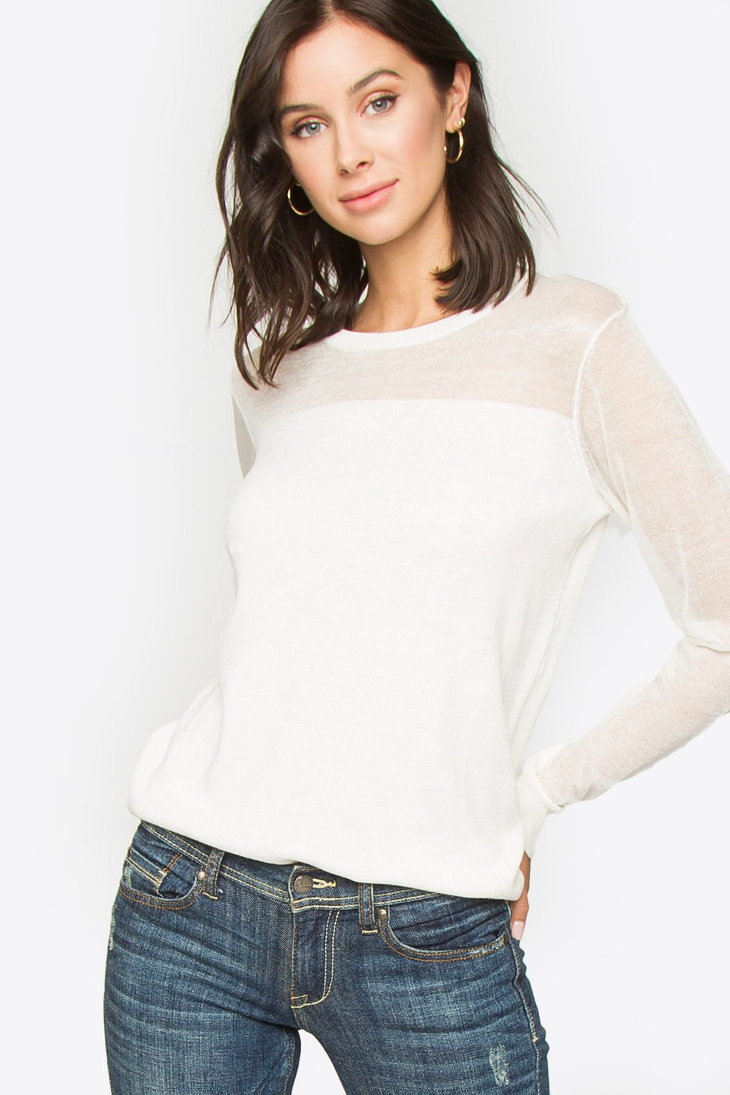 Monahan Contrast Pullover Top